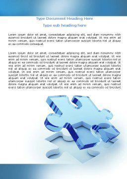 Blank Jigsaw Word Template, Cover Page, 06631, 3D — PoweredTemplate.com