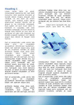 Blank Jigsaw Word Template, First Inner Page, 06631, 3D — PoweredTemplate.com