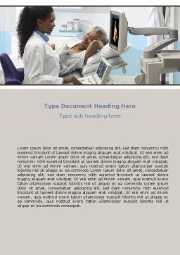 Ultrasound Examination Word Template, Cover Page, 06635, Medical — PoweredTemplate.com