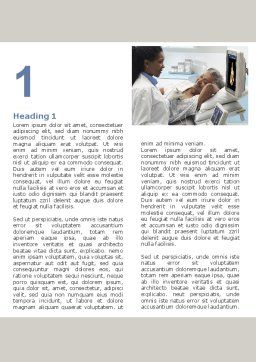 Ultrasound Examination Word Template, First Inner Page, 06635, Medical — PoweredTemplate.com