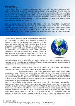 World Globe Word Template, First Inner Page, 06636, Global — PoweredTemplate.com