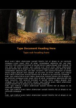 Autumn Jogging Word Template Cover Page