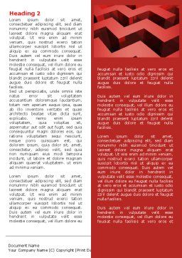 Red Maze Word Template, First Inner Page, 06643, 3D — PoweredTemplate.com