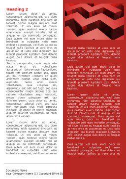 Red Maze Word Template, First Inner Page, 06643, 3D — PoweredTemplate.com