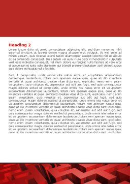 Red Maze Word Template, Second Inner Page, 06643, 3D — PoweredTemplate.com