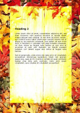 Autumn Leaves Frame Word Template, Second Inner Page, 06644, Holiday/Special Occasion — PoweredTemplate.com