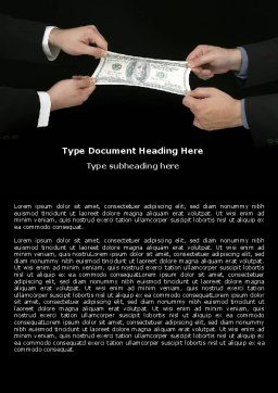 Stretching a Hundred Dollars Word Template, Cover Page, 06646, Business — PoweredTemplate.com