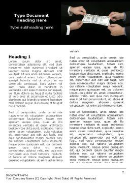 Stretching a Hundred Dollars Word Template, First Inner Page, 06646, Business — PoweredTemplate.com