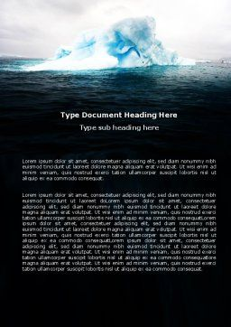 Blue Iceberg Word Template Cover Page