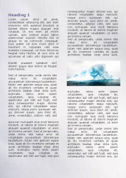 Blue Iceberg Word Template, First Inner Page, 06647, Nature & Environment — PoweredTemplate.com