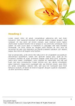 Yellow Lily Word Template, Second Inner Page, 06649, Holiday/Special Occasion — PoweredTemplate.com