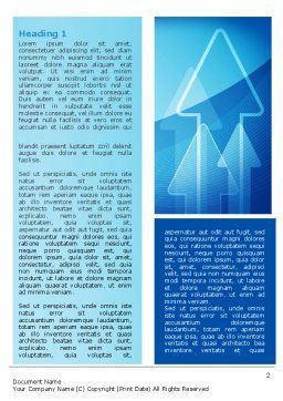 Neon Blue Arrow Word Template, First Inner Page, 06652, Business — PoweredTemplate.com