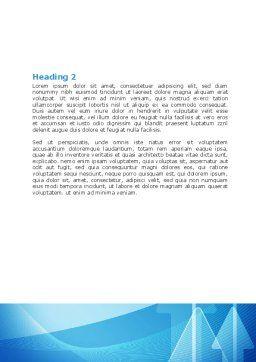 Neon Blue Arrow Word Template, Second Inner Page, 06652, Business — PoweredTemplate.com