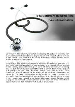 Phonendoscope In A Gray Color Word Template, Cover Page, 06653, Medical — PoweredTemplate.com