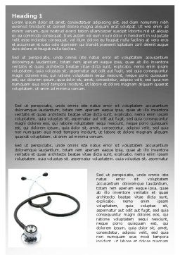Phonendoscope In A Gray Color Word Template, First Inner Page, 06653, Medical — PoweredTemplate.com