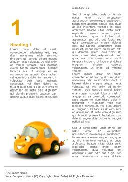 Orange Toy Car Word Template, First Inner Page, 06656, Holiday/Special Occasion — PoweredTemplate.com
