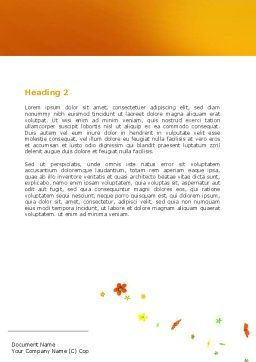 Orange Toy Car Word Template, Second Inner Page, 06656, Holiday/Special Occasion — PoweredTemplate.com