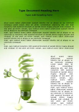 Energy Save Lamp Word Template Cover Page