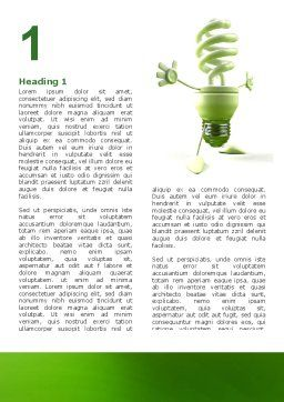 Energy Save Lamp Word Template First Inner Page