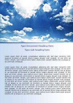 Deep Blue Sky Word Template Cover Page