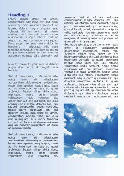 Deep Blue Sky Word Template First Inner Page