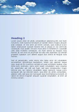 Deep Blue Sky Word Template, Second Inner Page, 06659, Nature & Environment — PoweredTemplate.com