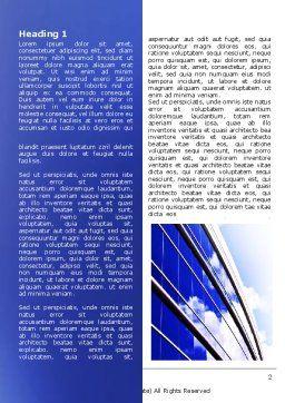 Blue Glass Skyscraper Word Template, First Inner Page, 06662, Construction — PoweredTemplate.com
