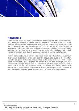 Blue Glass Skyscraper Word Template, Second Inner Page, 06662, Construction — PoweredTemplate.com