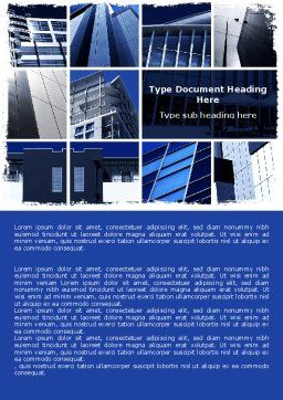 Civil Engineering Word Template, Cover Page, 06663, Construction — PoweredTemplate.com