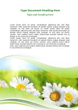 Camomile In The Fields Word Template, Cover Page, 06664, Holiday/Special Occasion — PoweredTemplate.com