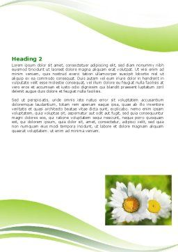 Camomile In The Fields Word Template, Second Inner Page, 06664, Holiday/Special Occasion — PoweredTemplate.com