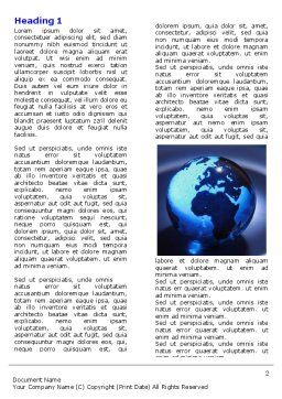 Blue World Globe Word Template First Inner Page