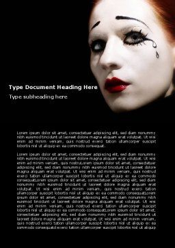 Portrait of Mime Word Template, Cover Page, 06672, Art & Entertainment — PoweredTemplate.com