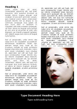 Portrait of Mime Word Template, First Inner Page, 06672, Art & Entertainment — PoweredTemplate.com