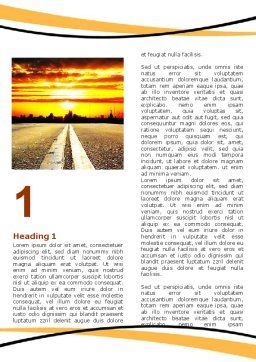 Road To Sunset City Word Template, First Inner Page, 06674, Cars/Transportation — PoweredTemplate.com