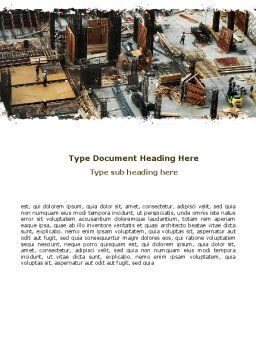 Big Building Site Word Template, Cover Page, 06675, Construction — PoweredTemplate.com
