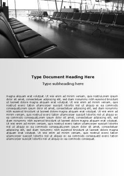 Airport Waiting Room Word Template, Cover Page, 06676, Business — PoweredTemplate.com