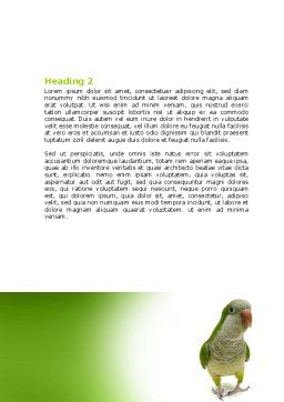 Quaker Parrot Word Template, Second Inner Page, 06678, Nature & Environment — PoweredTemplate.com