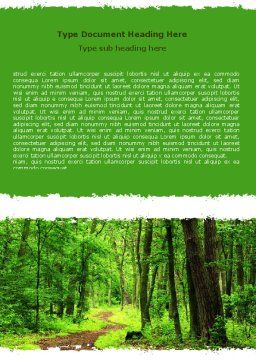 Green Woods Word Template Cover Page