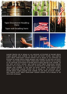 Memorial Day Collage Word Template, Cover Page, 06684, Holiday/Special Occasion — PoweredTemplate.com