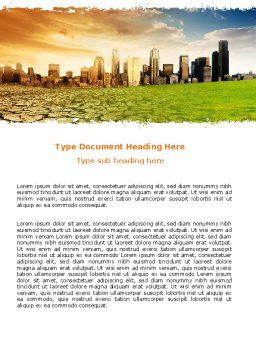 Bad Ecology City Word Template Cover Page