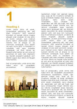 Bad Ecology City Word Template First Inner Page