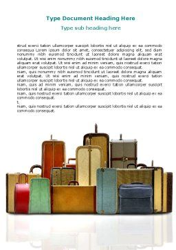 Luggage Word Template, Cover Page, 06688, Careers/Industry — PoweredTemplate.com