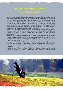 Golf Field Word Template, Cover Page, 06689, Sports — PoweredTemplate.com