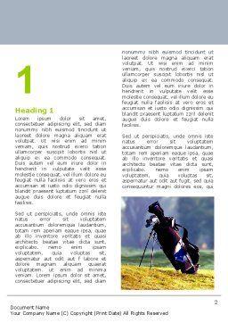 Golf Field Word Template, First Inner Page, 06689, Sports — PoweredTemplate.com