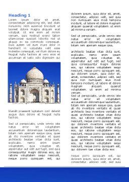 Indian Taj Mahal Word Template First Inner Page