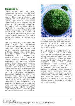 Green Planet In the Space Word Template, First Inner Page, 06693, Nature & Environment — PoweredTemplate.com