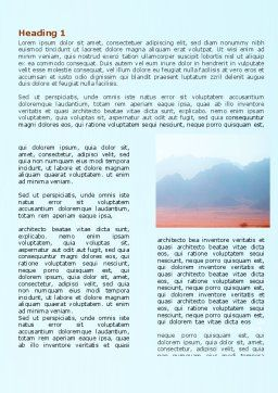 Fog Mountain View Word Template First Inner Page
