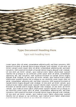 Roadway Word Template, Cover Page, 06700, Cars/Transportation — PoweredTemplate.com