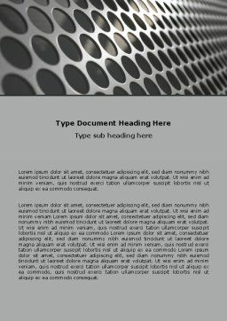 Perforated Metal Word Template, Cover Page, 06701, Technology, Science & Computers — PoweredTemplate.com